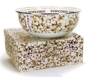Golden Rabbit Enamelware Popcorn Serving Bowls, 2 Styles
