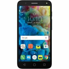 "Alcatel pop 4 Negro 5"" 8 GB 4G Android móvil bloqueado para O2, GiffGaff & Tesco"