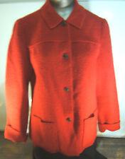 Lands' End Red Boiled Wool Jacket  Size10