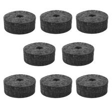 8pcs Non-slip Drum Kit Accessories Percussion Cymbal Felt Pads Protector (Black)