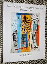 JEAN-MICHEL BASQUIAT, Christie's Catalog, Contemporary Art, POLKE, KAWS, TAPIES