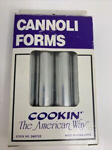 Vintage Cannoli Forms Made In Hong Kong -Unused In Box Cooking The American Way
