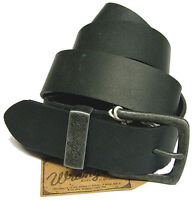WRANGLER men's leather belt black or BROWN OFFER Size selection - 4 cm