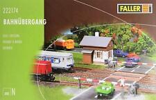 Faller 222174 N - Bahnübergang mit Schrankenwärterhäuschen NEU & OvP