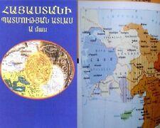 ARMENIA HISTORY ATLAS- Armenian Historical Maps, Map vol.1- Hayastani Patmutyan