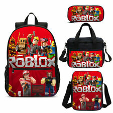 Game Roblox School Backpack 4PCS Crossbody Insulated Lunch Bag Pencil Case Lot