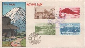 JAPAN, 1949. First Day Fuji-Hakone National Park, P45-48