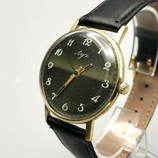 Fino Traje Chapado en Oro Vintage Luch Raya Urss Mecánico 2209 Reloj Hombres 18k