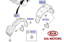 Genuine Kia Sportage 2010-2013 Wheel Arch Liner - RH Front 868123U010