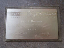 vintage 1951 Oldsmobile Olds employee  25 year membership card retirement metal