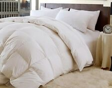 King White Down Feather Comforter Bedding Blanket Baffle Box Year Round 60 oz FP