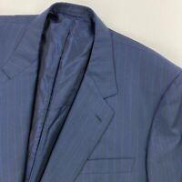 Brioni Men's Palatino 2-Button Wool Blazer Jacket Blue Pinstripes • Italy • 54 R
