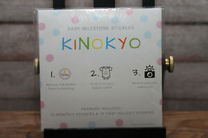 Kinokyo Baby Girl Monthly Stickers 24 Pack: 12 Month Milestone,12 1st Holiday