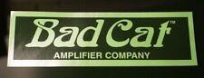 Bad Cat Amplifiers Vinyl Decal Sticker Authentic Large BlacK Mirror BadCat Amps