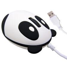 Universal Cartoon Panda USB Wired Ergonomic Optical Mouse Gaming Mice PC Hi-Q