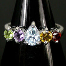 Pear Band Not Enhanced Fine Gemstone Rings