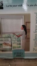 """New Levolor 2"""" Faux Wood Blinds Room Darkening Cordless, White, I have about 10"""