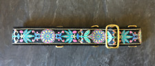 "1.5"" Martingale Dog Collar ~ Greyhound ~ Galgo ~ Any Breed ~ Medieval Flowers"