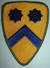 AMERICAN PATCHES-ORIGINAL WW2 2nd CAVALRY DIVISION GREEN BACK