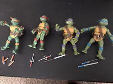 USED Playmates Classic 1988 Teenage Mutant Ninja Turtles Figures Set of 4