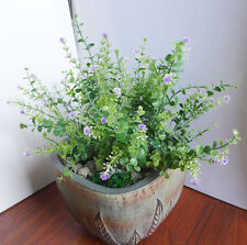 Set of 2 Flowering Grasses Artificial Plastic Flower Plants