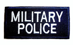 MILITARY POLICE PATCH GB British army blue sew on Jacket Cap rucksack badge UK