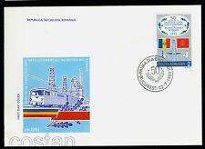 1983 Railways,Oil Industry,metal workers strike,60th anniv.,Romania,Mi.3964,FDC
