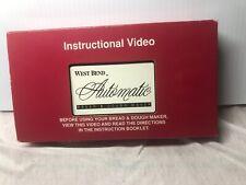 West Bend Bread Maker Models 41035 Instructional Video (Vhs)