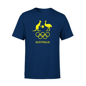 AOC Australian Olympic Adults Supporter Cotton T-Shirt/Tee/Top Sport NVY