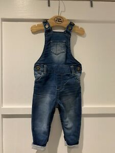 Baby Boys Denim Dungarees - Age 6-9 Months - Excellent Condition!!!