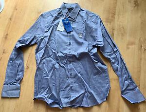 """Herrenhemd """" Claudio Campione """" 100%Baumwolle !! Größe M / Modern Fit / Blau !!"""