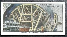 Simplon Tunnel   Alpine Railway Construction   Vintage Card # VGC