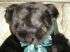 """Marshall Fields Teddy Bear 14"""" Brown Orig Tags Embroidered Stitched Foot EXC"""