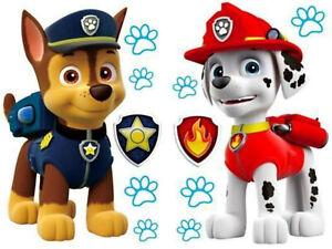 Paw Patrol Wandtattoo Marshall & Chase Sticker Wandkleber Aufkleber Kinderzimmer
