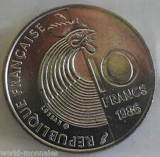 10 francs Robert schuman 1986 : SPL : pièce de monnaie française