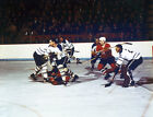 Carl Brewer-Red Berenson-Terry Sawchuk Montreal-Toronto Unsigned 8x10 Photo