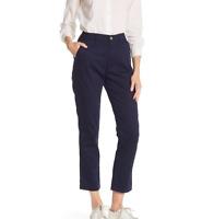 """J.Crew Women's Size 6 Slim Chino Khaki Pants Navy Blue 28"""" Inseam NEW"""