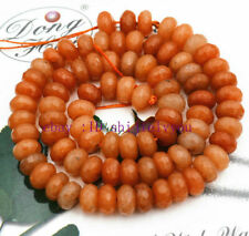 Beadutiful 5x8mm AAA Orange Pink jade Faceted Abacus Loose Bead 15''