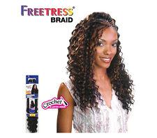 "5 PKS Freetress Braid N Crochet Deep Twist 22"" Color 4 Curly Synthetic Hair"