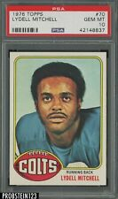 1976 Topps #70 Lydell Mitchell Baltimore Colts PSA 10 GEM MINT