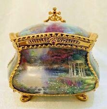 Thomas Kinkade Have Faith Musical Prayer Box - 22K Gold Accents Ardleigh Elliott
