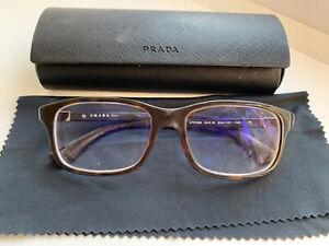 Prada Tortoiseshell Frame With Powered Glasses And Case