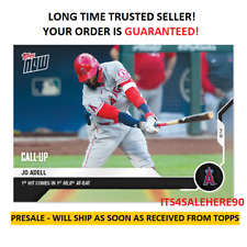 2020 Topps Now JO ADELL Angels CALL UP RC #53 - 1ST ML HIT IN 1ST AB! PRESALE