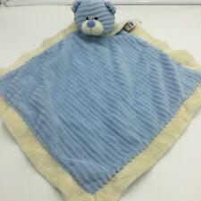 Baby Ganz Corduroy Cuties Bear Security Blanket Lovey Blue Cream