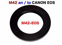 M42 Objektiv für Canon EF Mount Adapter schwarz 7D 70D III 650 6D 5D II I2D2