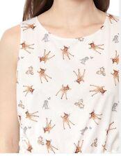 Paul And Joe Bambi Printed Dress In White Euc 40/8 $228 Disney