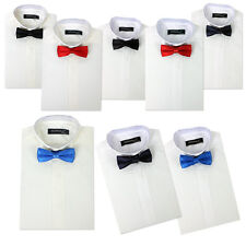 Boys Wing Collar Shirts & Bow Tie, Kids Tuxedo Suit shirt, Prom, Wedding, Party