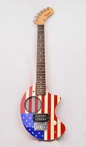 Fernandes Nomad Travel Guitar, Built-in Akp & Speaker, USA flag design, FWO