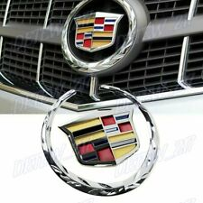 Chrome Front Grille Ornament Emblem Badge Sticker for Cadillac Escalade SRX CTS