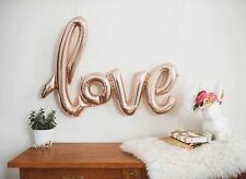 "GIANT LOVE BALLOON SCRIPT 40 "" WEDDING DECORATION PARTY BABY ROSE CHAMPAGNE"